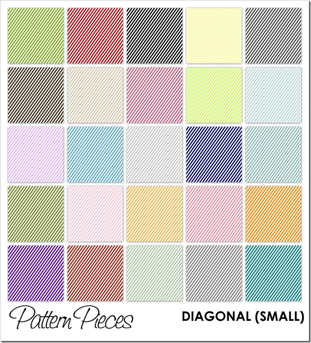 IMAGE - Pattern Pieces - Diagonal (Small)