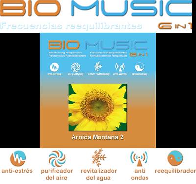 BIO MÚSICA 6 EN 1 (ARNICA MONTANA 2) [ Audio CD ] – Frecuencias equilibrantes para balancear, proteger y revitalizar el organismo y su entorno