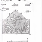 Vintage Alice Brooks Filet Crochet Puppies Spaniels Chair Set Pattern