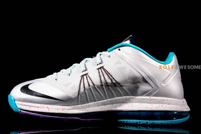 nike lebron 10 low gr silver teal 1 02 New Nike Air Max LeBron X Low Silver & Teal (579765 002)