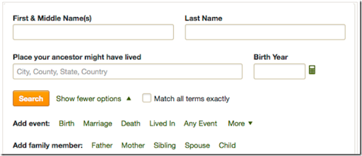 The Ancestry Insider: Ancestry.com Updating Search Form