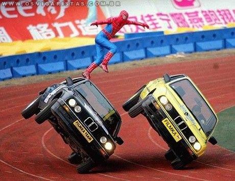 Homem aranha desempregado...