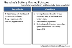 mashed potatoes recipe card