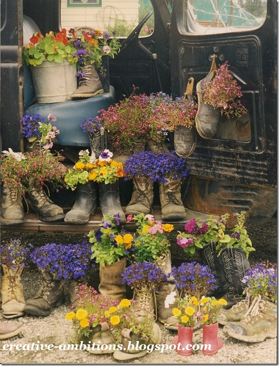 boot flowers pic