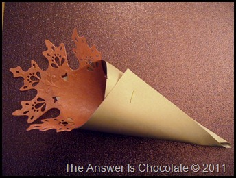 Thanksgiving Paper Cone