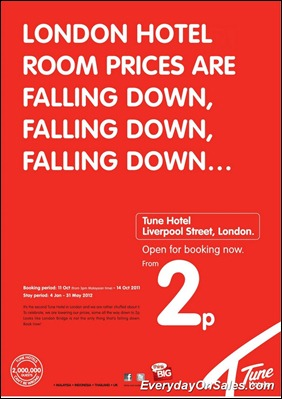 Tune-Hotel-London-Opening-Rate-2011-EverydayOnSales-Warehouse-Sale-Promotion-Deal-Discount