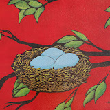 Art Nouveau Nest Acrylic on Canvas 16x 20