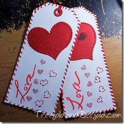 Treegold and Beegold: Tags from the Heart Tag Swap