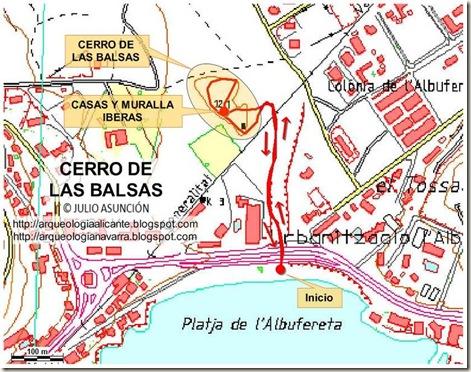 Mapa Cerro de las Balsas