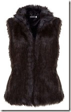 Mint Velvet Blue Black Faux Fur Gilet