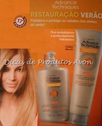 Restauração verão tratamento para cabelos