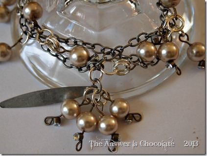 Multi Strand Chain and Pearl Bracelet