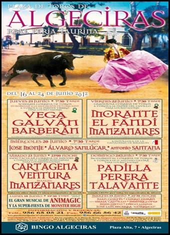 cartel algeciras debut con picadores antonio santana