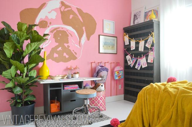 Imaginative Girls Bedroom @vintage revivals