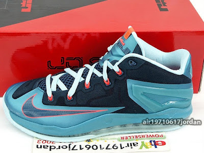 nike lebron 11 low gr nightshade 1 03 Upcoming Nike Max LeBron XI Low Turbo Green / Nightshade