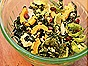 Kale & Brussels Sprout Salad with Delicata Squash