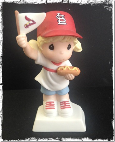 Precious Moments Cardinal Fan from Janene and Keith w border