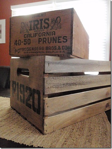 DIY antique crate