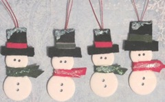 button snowman ornaments 2011