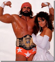 WWF Champion Macho Man with Elizabeth
