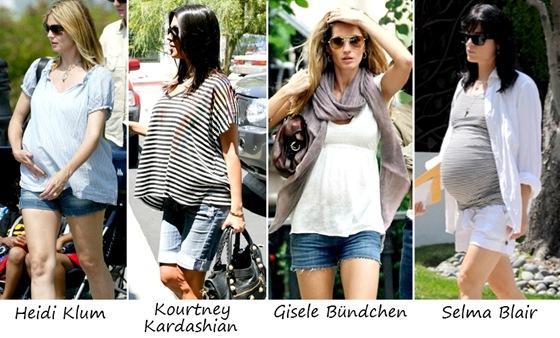 Looks para gestantes: Shorts e bermudas