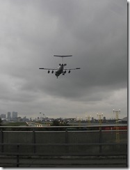Landing at London Docklands