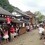 awaiting the Geisha parade at Edo Wonderland in Nikko, Totigi (Tochigi) , Japan
