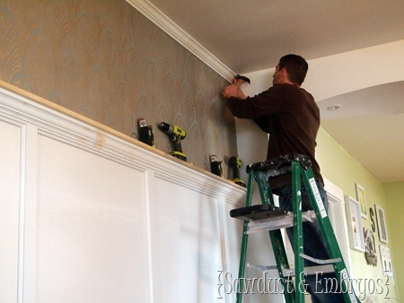 Crown Molding Tutorial {Sawdust and Embryos}