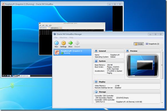Debian on VirtualBox Manager