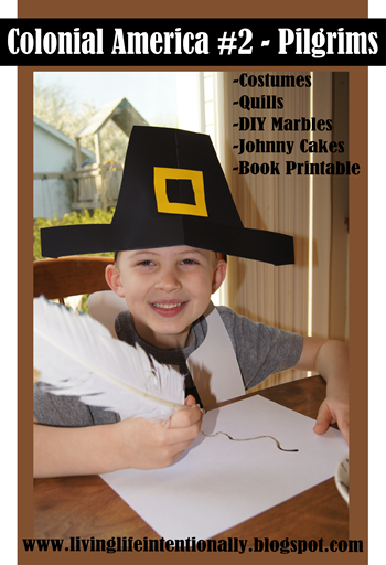 Hands on Homeschool History learning about the Pilgrims with lots of history projects