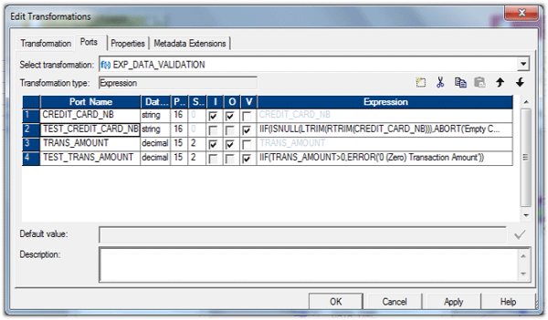 Informatica Error ABORT functions usage
