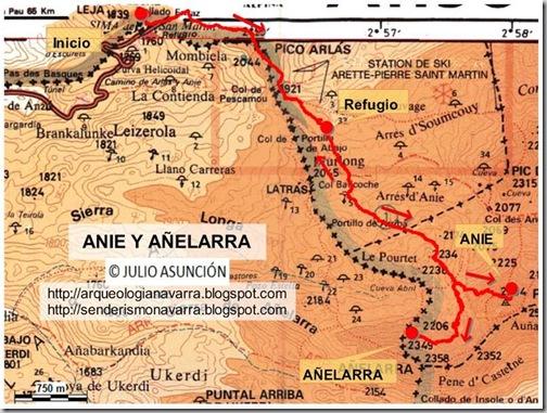 Mapa ruta Anie y Añelarra