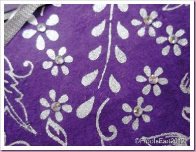 Purple wedding card handmade papers