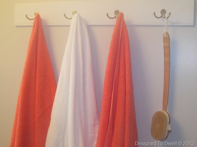 Gray & Coral Bathroom