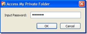 Microsoft Private Folder digitare password per accedere