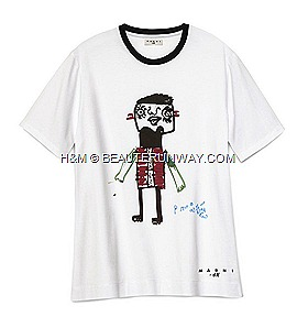 MARNI H&M T-Shirt Red Cross in Japan Fund Raising Spring 2012 H&M Marni Collection Singapore Orchard Building