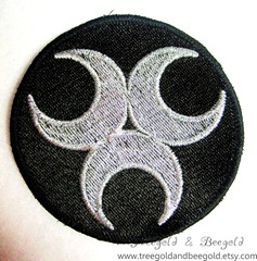 Triple Crescent Moon Patch
