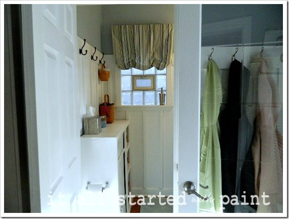 Powder Room Makeover After door open wide shot
