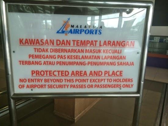 Do not enter - Car hire at Sibu, Airport