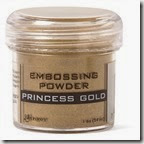 princess gold embossing