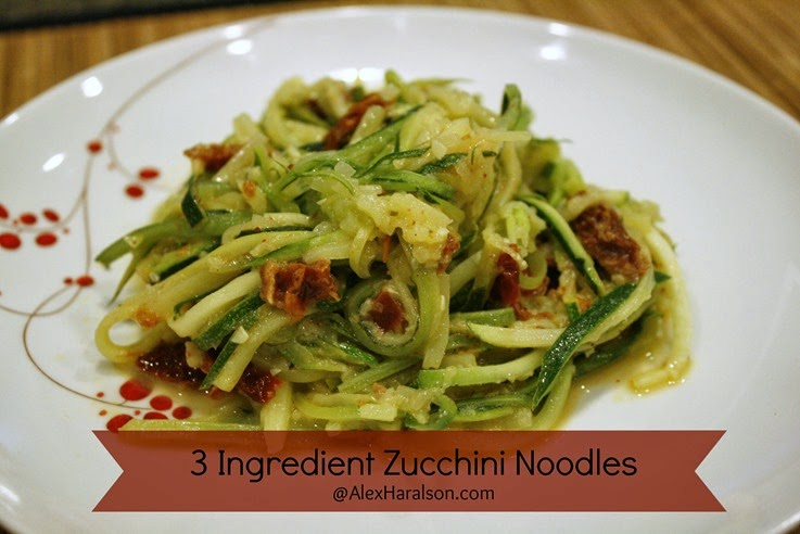 3 ingredient zucchini noodles
