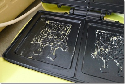 spongebob print on the sandwich maker