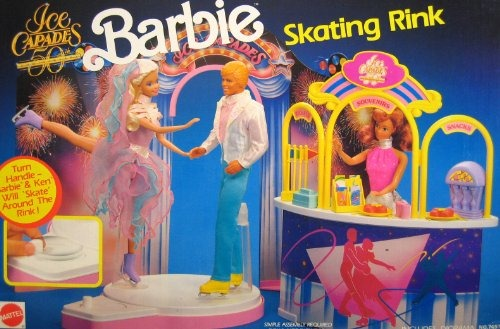 Barbie Ice Capades 50th Anniversary Skating Rink Playset (1990)