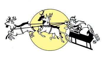 Santa Reindeer vintage image graphicsfairy008c