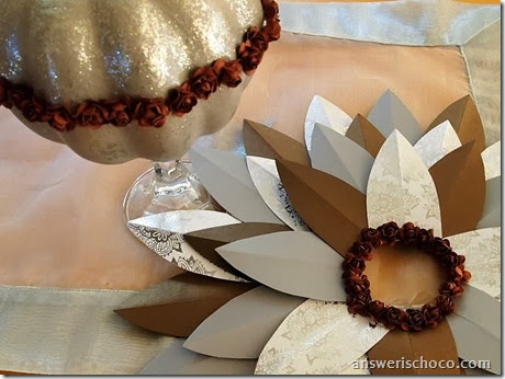 Brown and Silver Wreath and Pumpkin