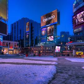 Yonge and Dundas, Toronto by Tom Baker - City,  Street & Park  Street Scenes ( toronto, downtown toronto )