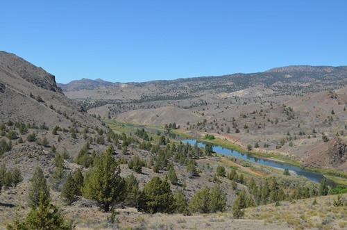 high above the John Day River