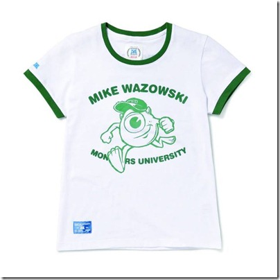 Monster University X Giordano - White Tee shirt  Women 04