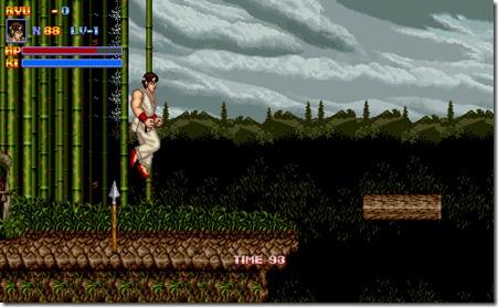 Una sezione di gioco platform