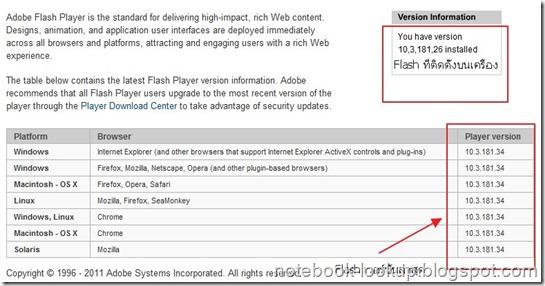 วิธีเช็ค Flash Player บน Browser เพื่อการเล่นเน็ตแบบไม่สะดุด